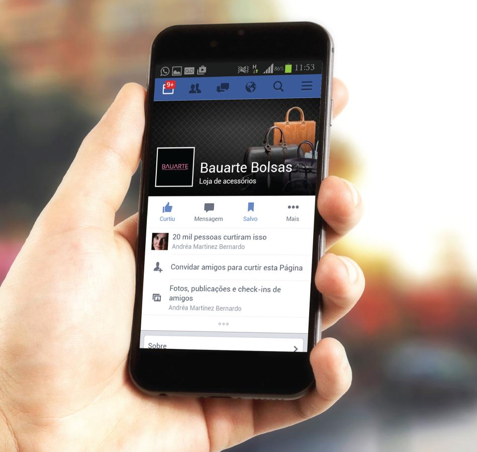 Gestão de redes sociais - gestão de perfil de empresa (fanpage) no FACEBOOK para a Bauarte
