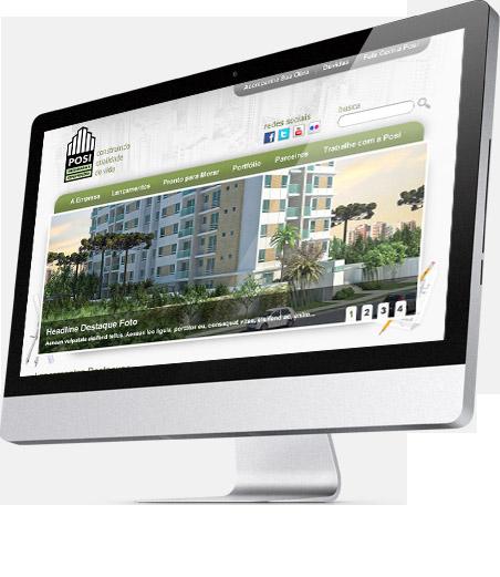 Serviços de Criação de Site - Case Construtora Posi