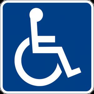 Imagem do símbolo internacional de acessibilidade