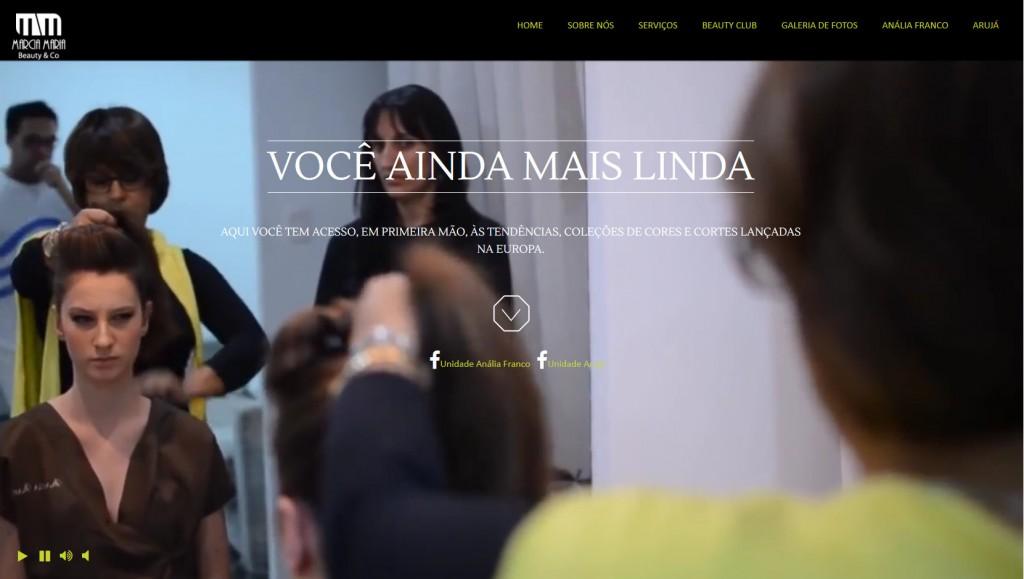 Site novo da Marcia Maria Beauty & Co